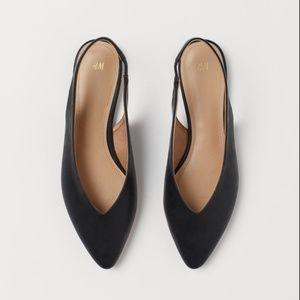 H&M Black Slingback Pointed Flats